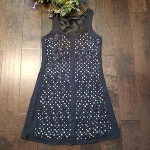 French Connection Studded Beaded Lined Dress